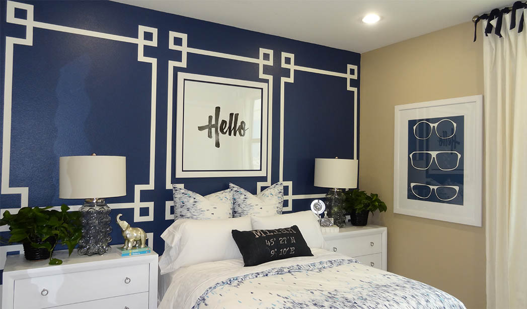Greek Key Inspired Painted Wall Frames At The District By Shea Homes